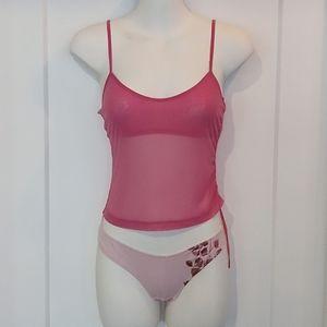 NWOT La Senza Pink Lace Camisole